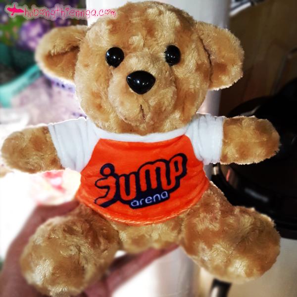 Gấu bông in logo công ty, doanh nghiệp Jump
